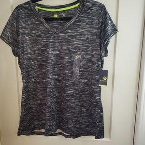 Xersion Quick Dri Size XL Athletic Top Black/White